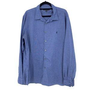 John Varvatos Sz XXL Buttondown Shirt Blue